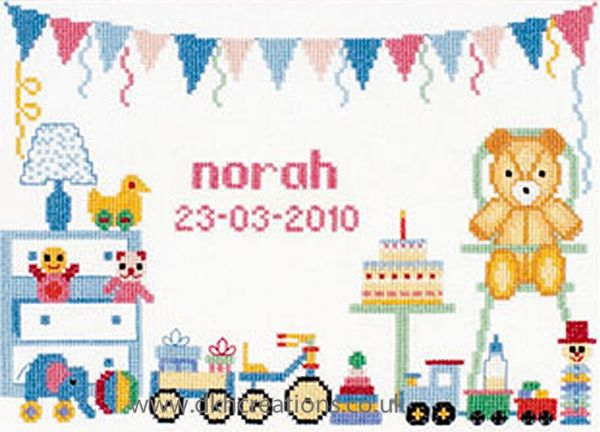 First Birthday Cross Stitch Kit
